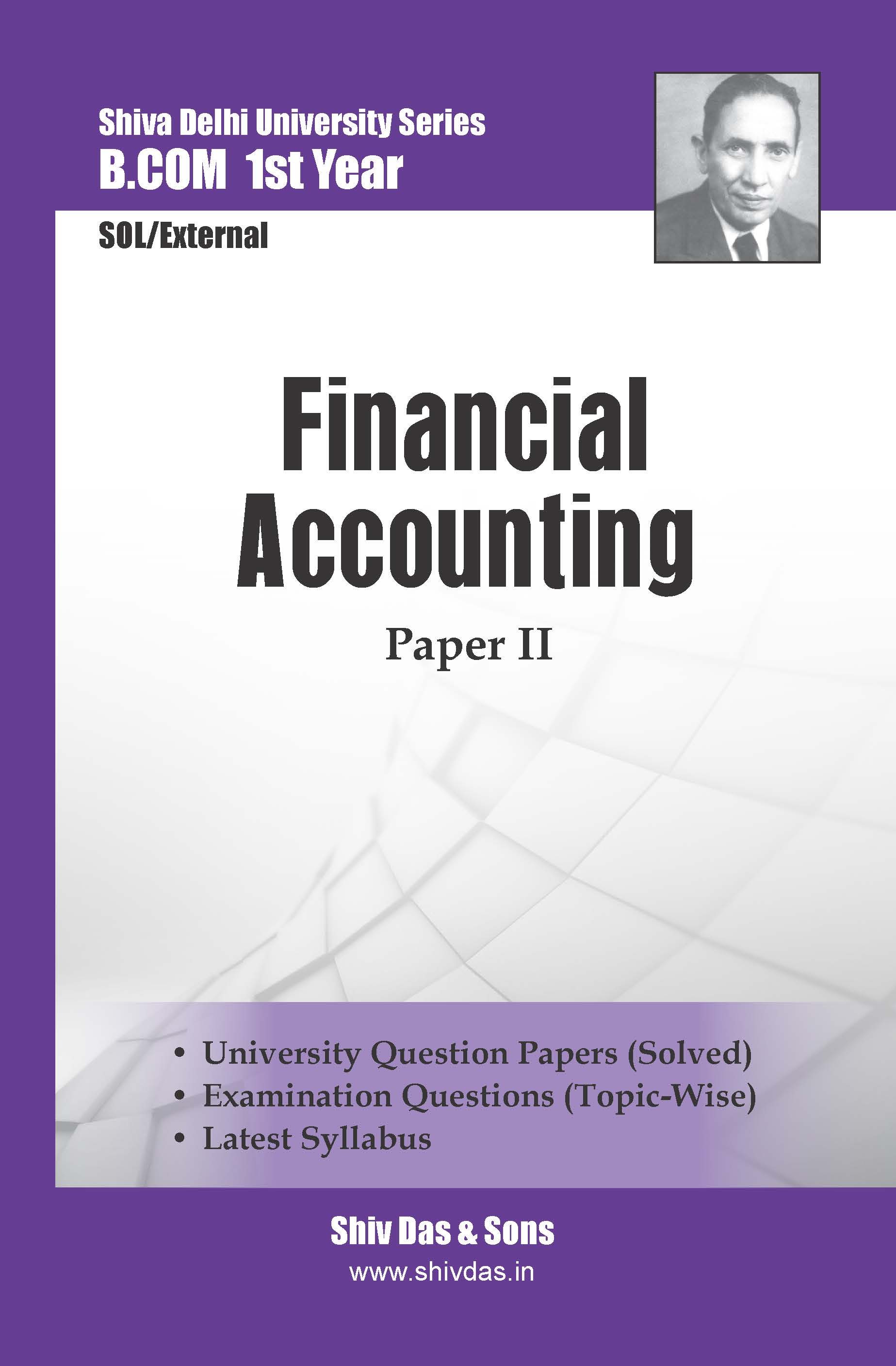 B.Com-1st Year-SOL/External-Financial Accounting (Hindi Medium)-Shiv Das-Delhi University Series